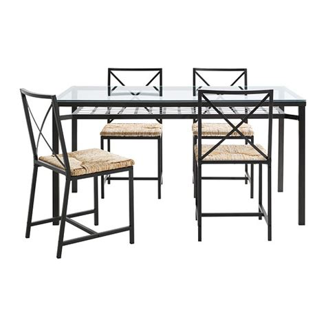Iron Dining Room Chairs by Gran 197 S Table And 4 Chairs Ikea