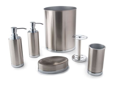 brushed nickel bathroom accessories set bathroom accessories sets brushed nickel design a house