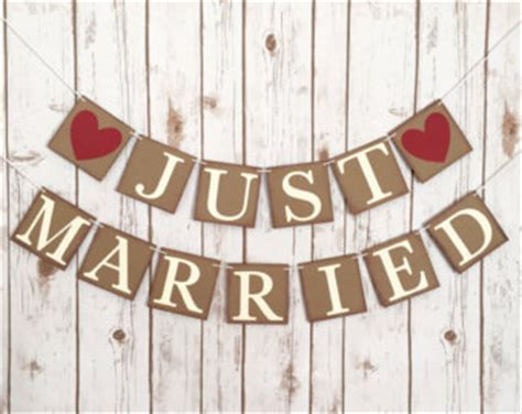 Wedding Banner Just Married by Just Married Bunting Etsy
