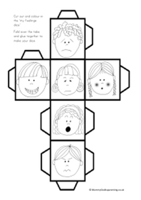 printable emotions dice mummy g early years resources feelings dice all about