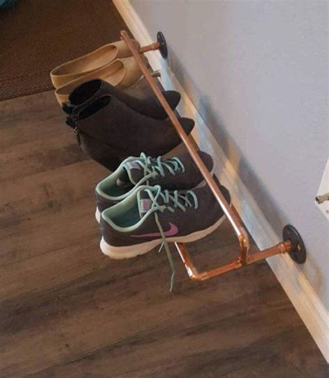 Pipe Shoe Rack by Best 25 Wall Shoe Rack Ideas On Wall Shoe