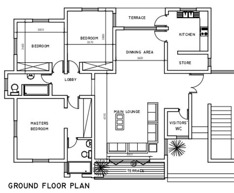 three bedroom ground floor plan 3 bedroom flats our smart cities