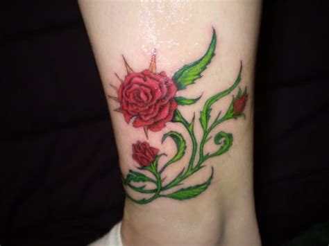 red rose vine tattoo pics for gt vine ankle