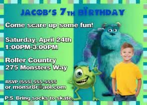 monsters inc 2 birthday invitation kustom kreations