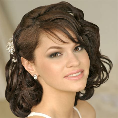 Wedding Hairstyles For Hair With Side Bangs by Pretty Wedding Hairstyles With Side Bangs Hair For