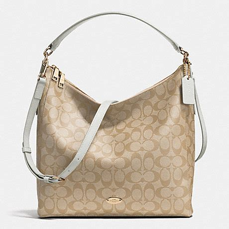 Coach Celeste Hobo Sign Khaki Chalk 2 coach f34910 celeste convertible hobo in signature canvas light gold light khaki chalk