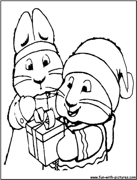 max and ruby christmas coloring page christmas coloring