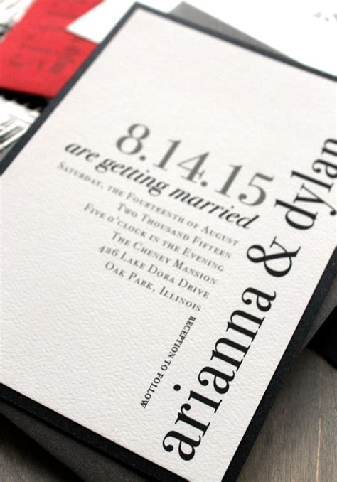 Wedding Invitation Modern modern wedding invitations wedding invitation chic wedding invitations black white and