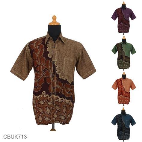 Kemeja Batik Pekalongan Motif Daun Merambat kemeja batik smok pekalongan motif daun kerang kemeja