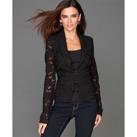 inc international concepts lace blazer in black lyst