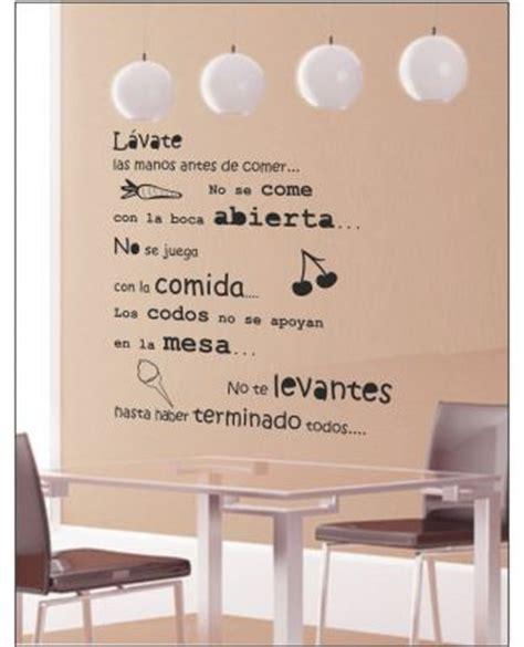 decorar un texto vinilos para cocina decorativos textos pared comedor