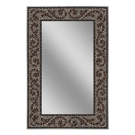 deco mirror mirrors 36 in x 24 in etched geometric wall deco mirror 36 in x 24 in frameless mosaic mirror in