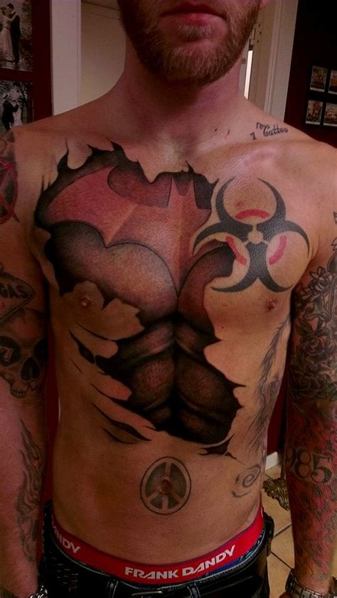 batman chest tattoo batman tattoos for ideas and designs for guys