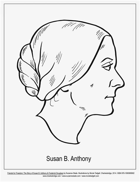 susan b anthony free coloring pages