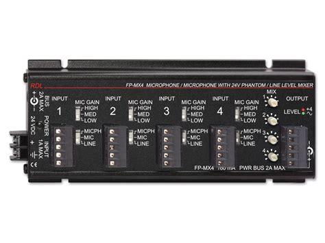 Rack Mount Audio Amplifier Fp Mx4 4 Channel Audio Mixer Microphone Or Line Input
