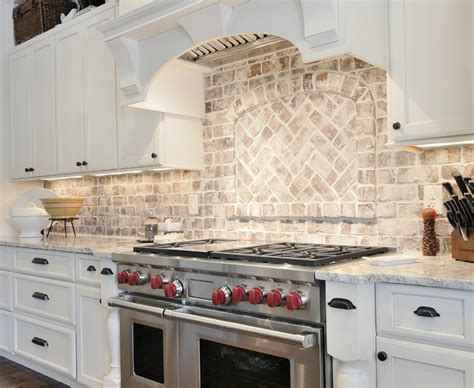 traditional kitchen backsplash marvelous brick backsplash traditional kitchen