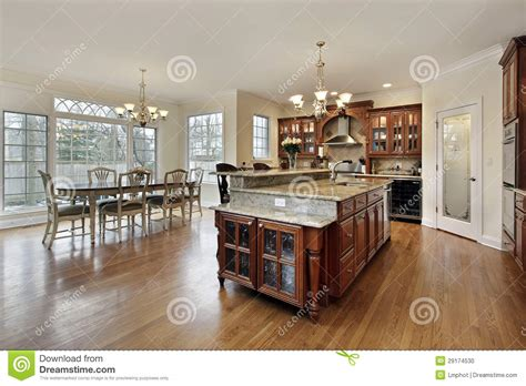 kitchen island eating area large kitchen with eating area stock photo image 29174530
