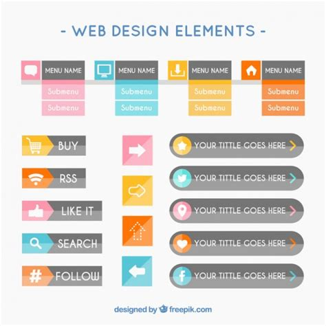 design elements style 20 free web design elements for stylish website looks