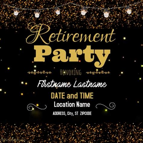 retirement party template | postermywall