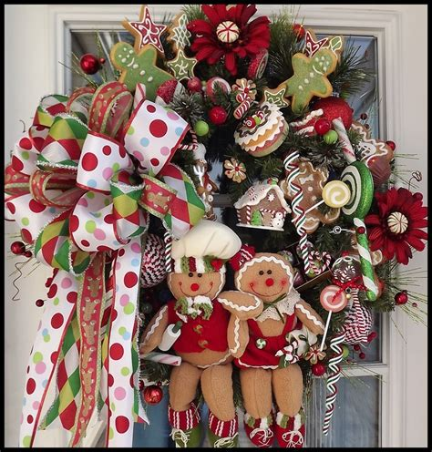 christmas wreaths gingerbread wreath christmas pinterest