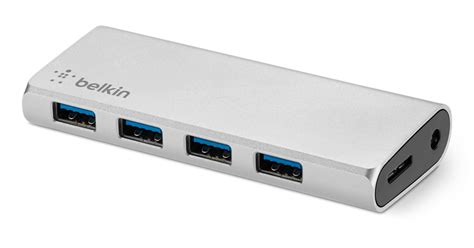 Usb Hub V 30 Onof Usb Hub 4port 30 belkin aluminium usb 3 0 4 port hub apple uk