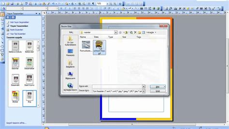 membuat poster di ms word microsoft publisher programında tasarım geliştirme youtube