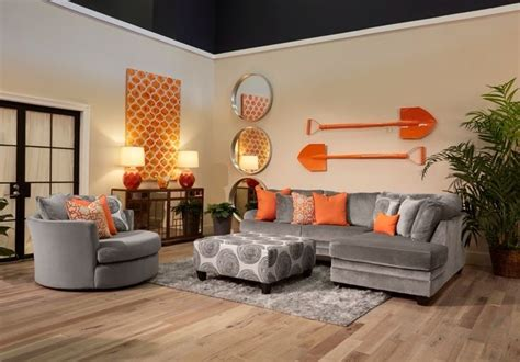 Orange And Grey Room Decor by 25 Best Ideas About Orange Living Rooms On