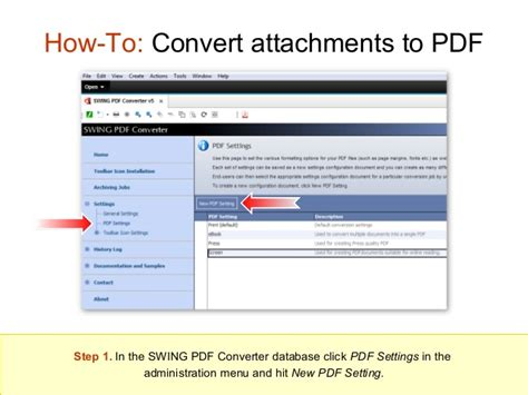 swing pdf converter how to convert attachments to pdf
