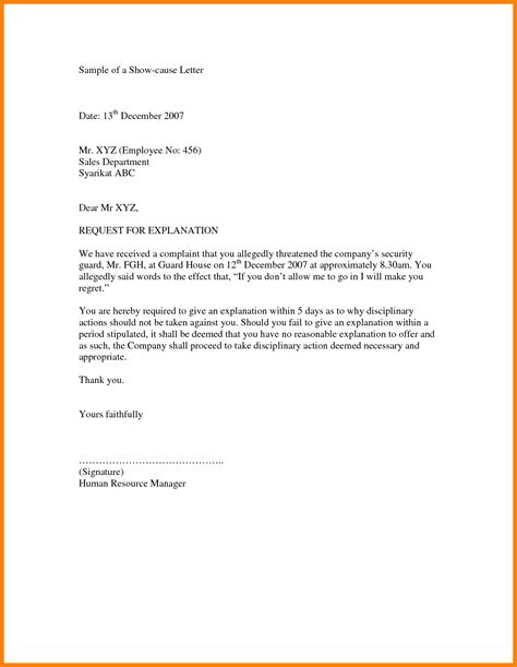 Written Explanation Letter Exle 4 How To Write Explanation Letter Daily Task Tracker