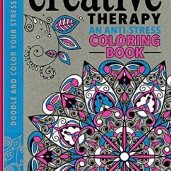 color therapy an anti stress coloring book hardcover creative therapy an anti stress coloring from epic