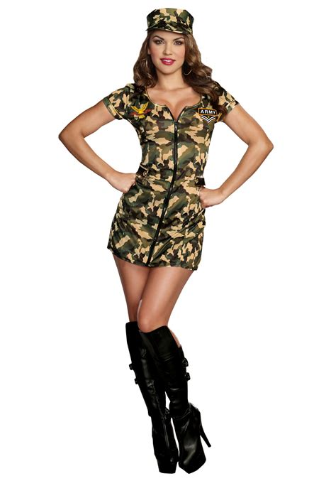 woman soldier costume women s army doll costume