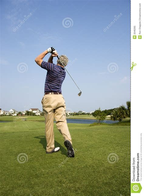 swinging golf club man swinging golf club royalty free stock photo image