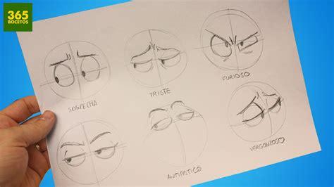 imagenes de ojos faciles de dibujar como dibujar ojos expresiones faciles para tus dibujos