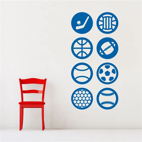 sports wall stickers sports sticker pack wall decal