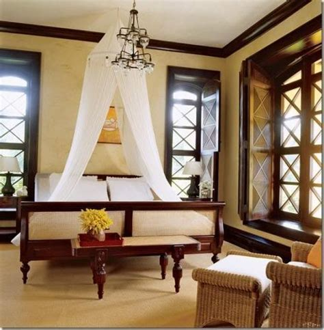 British Bedroom inspired by the british empire colonial inspired house