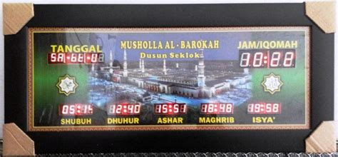 Jadwal Sholat Masjid Digital Timmer Iqomah harga jam digital masjid jadwal waktu sholat digital abadi