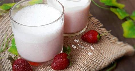 resep minuman es batu susu segar enak  sederhana