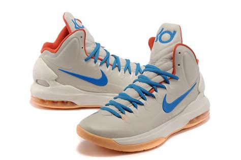 kd 5 basketball shoes nike zoom kd 5 basketball shoes beige blue light orange 2
