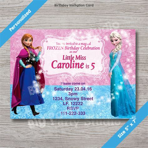 frozen invitation 85 off instant download printable