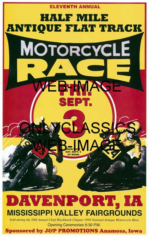motocross races in iowa iowa motorcycle races poster flat track racing great art