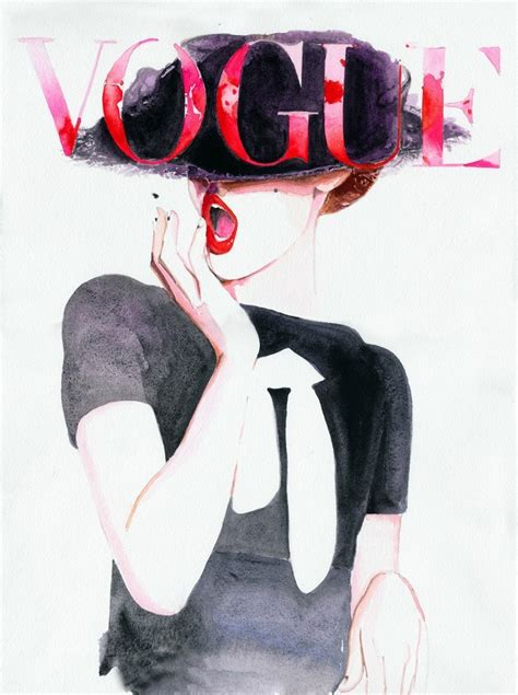vogue fashion print vogue cover giclee by