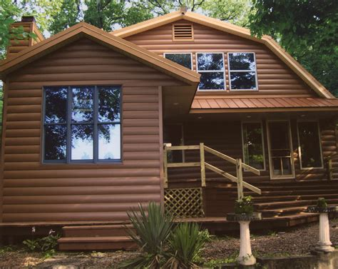 siding houses seamless steel log home siding