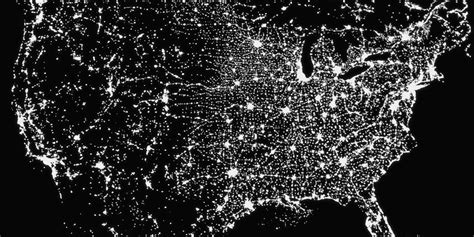 Light Pollution Map Usa The U S Needs To Get Rid Of Daylight Savings Huffpost