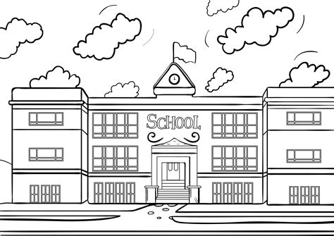 schoolhouse coloring page az coloring pages