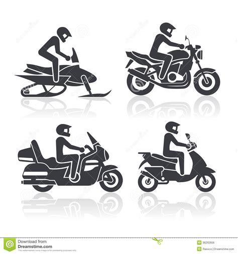 Tattoo Motorrad Freiheit by Motorcycle Icons Set Stock Vector Illustration Of