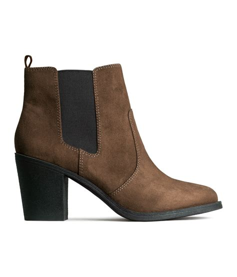 h m boots lyst h m ankle boots in brown