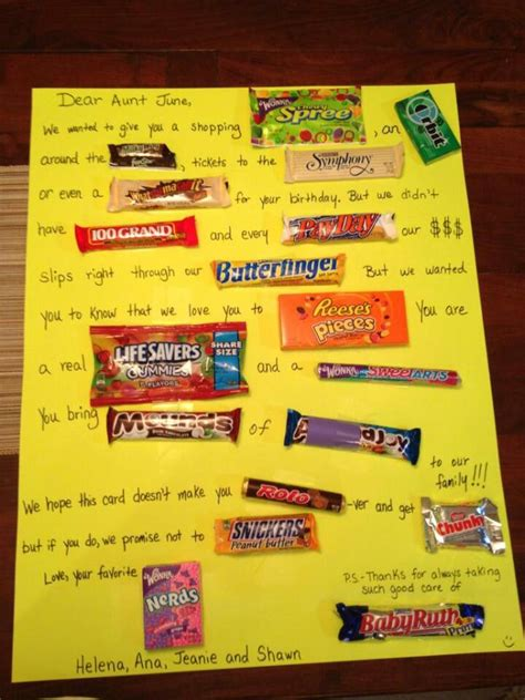 Candy Gift Card - 17 best images about candy cards on pinterest birthdays thank you cards and