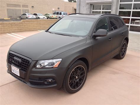 audi q5 matte black vinyl wrap unique auto