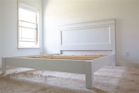 diy farmhouse bed from 2 ana white plans ana white king size fancy farmhouse bed diy projects
