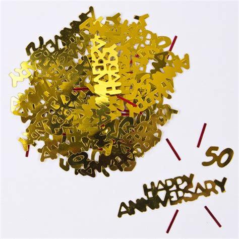 gold 50 table confetti gold 50th anniversary foil table confetti only 99p